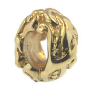 Authentic Trollbeads 18k Gold 21814 Jugend Gold 0