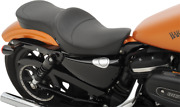 Drag Specialties Low Profile 2 Up Smooth Motocycle Seat 10-19 Harley Sportster