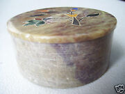 Round Gift Ring Jewel Trinket Box 3 Across 1 1/2 Tall Antique Made In India