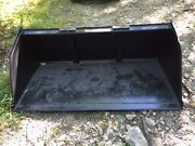 New 72 Skid Steer/tractor Snow/mulch 6and039 Bucket-for Bobcat Case Cat And More