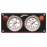 Longacre Sportsman Gauge Panel With Gauges, Oil Pressure And Water Temp 44430