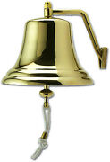 Victory Fs2106 Foresti And Suardi 8-1/4 Cast Polished Brass Shipand039s Bell 90065-3