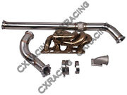 Thick Wall Turbo Manifold Downpipe For 510 S13 Sr20det Swap