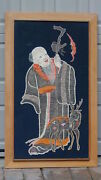 Antique Chinese Large Silk Silver Threads Embroidery Panel Immortalbatdear