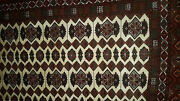Gorgeous Afghan Silk And Wool Carpet 6and0392 By 9 Bought Early 2002 Tight Weave