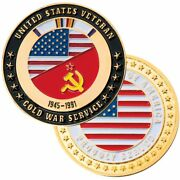 Cold War Service Veteran 1945-1991 1.75 Proudly Served Challenge Coin
