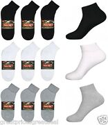 5100 Dozens Wholesale Lots Mens Sports Cotton Ankle Socks Solid P284 9-11 10-13