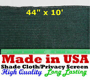 Shade Cloth Privacy Screen 44in X 10ft 90 Outdoor Knitted Sun Wind Block Fabric