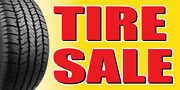 3and039x6and039 Tire Sale Vinyl Banner Tires Sale Sell Wheel Rims Slick Wheels Signs