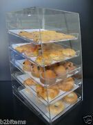 Ds-acrylic Pastry Bakery Donut Cupcake Stand Display Case With 5 Trays
