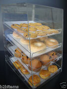 Ds-acrylic Pastry Bakery Donut Cupcake Stand Display Case With 4 Trays