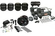Air Lift Fbss Auto Leveling Kit 3h1/4 Air Ride Setup,dual Black 444s,and Bags