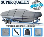 Grey Boat Cover For Tracker Sweet 16 Pro With Shield O/b 1991 1992