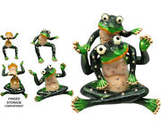 Frog And Baby Jeweled Trinket Box With Crystals, By Rucinni, 2