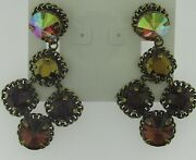 Sorrelli After Midnight Chandeliers Earrings Ecn2agafm Antique Gold Tone