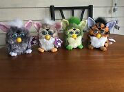 Lot Of 4 Original 1998 Furby Model 70-800 Opened Adult Owned