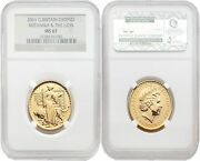 Great Britain Britannia 2001 Una And The Lion 50 Pounds 1/2 Oz Gold Ngc Ms67