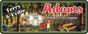 Personalized Family Camper Welcome Sign Funny Camping Signs Travel Trailer Decor
