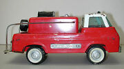 Vintage 1960 Nylint Steel 12 Red Ford Fire Truck Toy Car