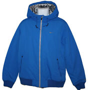 New Nike Ad Athletic Dept Mens Thermore Quilted Hoodie Jacket Royal Blue M
