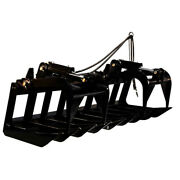 72andrdquo Heavy-duty Root Grapple Rake Attachment For Bobcat And Kubota Skid Steers