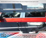 Stainless Steel Window Sill Trims 4pc Fits Gmc Sierra Double Cab 14-18