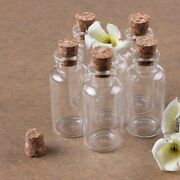 80pk Mini Glass Bottles With Cork Tops Crafts Party Favors Wedding Wishes 1.5