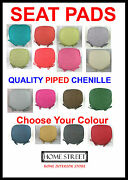 Luxury Chenille Piped Edge Quality Seat Chair Cushions/pads Washable Covers