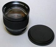 Contax Carl Zeiss Planar 85mm F/1.2 85/1.2 Aeg 50th Years Made In West Germany