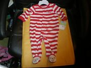 My First Christmas Red And White Carters One Piece New With Tag 3 Months