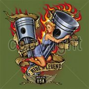 Ride A Legend Pistons And Broad T Shirt You Choose Style Size Color 10429