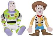24 Buzz Light Year And Woody Cuddle Pillow Pal Plush Combo By Disney-new W/tags