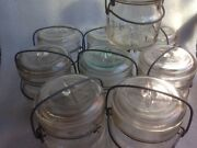 1930andrsquos Vintage Atlas E-z Seal Glass Canning Jars - Set Of 9 - Pint Size