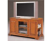 25and039and039h Classical Design Vinatage Looking Wood Storage Tv Cabinet-oak Finish-asdi