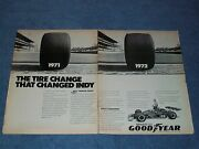 1972 Goodyear Tires Vintage Ad With Indy 500 Winner Mark Donohue