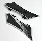 Front Floorboards For Harley Baggers Chrome-e-o Chrome W/ Rubber Inserts Harley