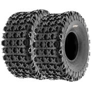 Pair Of 2 20x10-9 20x10x9 Quad Atv All Terrain At 6 Ply Tires A027 By Sunf