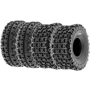 Set Of 4 21x7-10 And 20x11-9 Replacement Atv Utv 6 Ply Tires A027 By Sunf