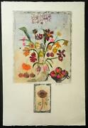Floral-art-prints-bracha Guy-etching With Remarque 2-one Of One-hand Colored