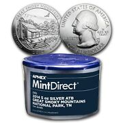 2014 5 Oz Silver Atb Great Smoky Mountains 10-coin Mintdirectandreg Tube From Apmex