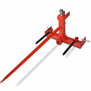 Titan 3 Pt Cat 1 Tractor Trailer Receiver Hitch, 49 Hay Spear And 2 Stabilizers