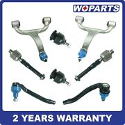 8pcs Front Control Arms Ball Joint Tie Rod Kit Fit For Mercedes W163 Ml320 Set
