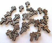 Wholesale Lot Of 200 Small Wood Crucifixes, 7/8 Inch, Holes For Necklace Cords