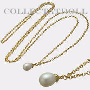 Authentic Trollbead Necklace Gold 14k Fantasy Pearl Necklace 39.4