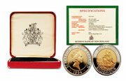 New Zealand 1994 Endeavour Bimetallic 50 Cents Proof Coin With Coa And Box