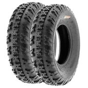 Pair Of 2 20x6-10 20x6x10 Quad Atv All Terrain At 6 Ply Tires A031 By Sunf