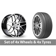 4 X 20 Bk Racing 170 Black Polished Alloy Wheel Rims And Tyres - 275/35/20