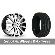 4 X 20 Bk Racing 660 Black Polished Alloy Wheel Rims And Tyres - 255/40/20