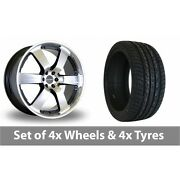 4 X 20 Dare Outlaw Black Polished Alloy Wheel Rims And Tyres - 255/50/20