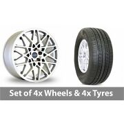 4 X 19 Dare Lg2 Silver Polished Alloy Wheel Rims And Tyres - 255/50/19